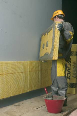 Залепване на топлоизолационните плочи